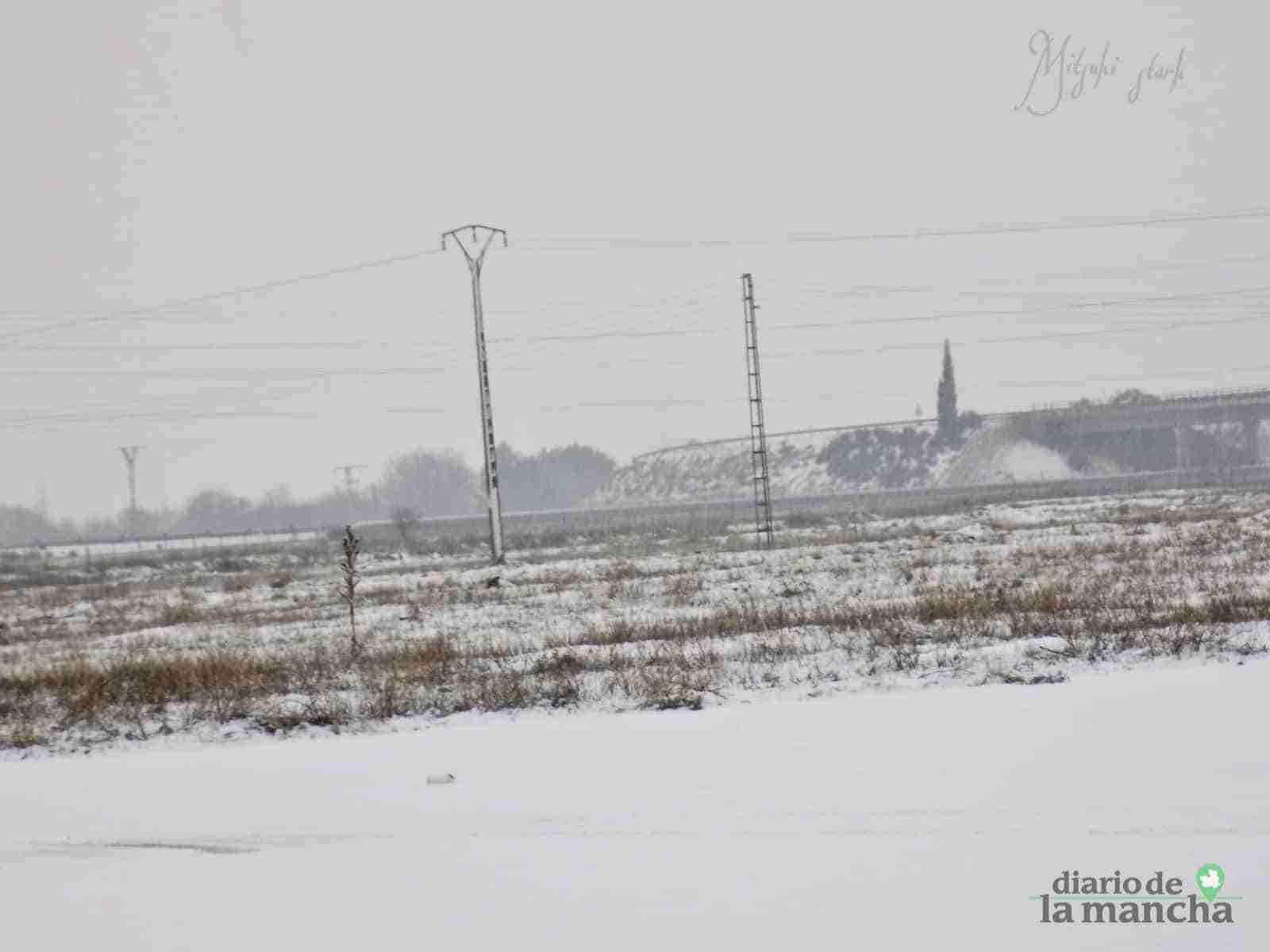 Fotografías de la primera nevada de 2021 en Tomelloso 34