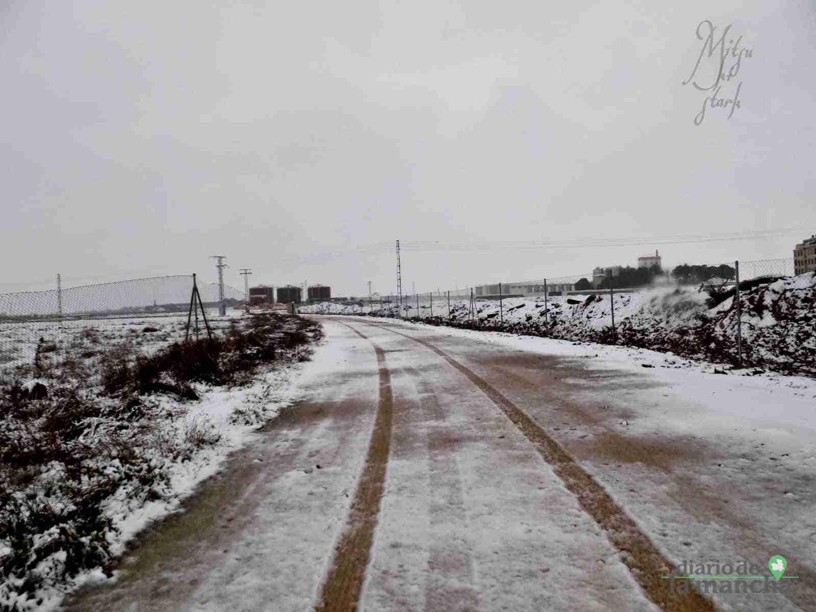 Fotografías de la primera nevada de 2021 en Tomelloso 35