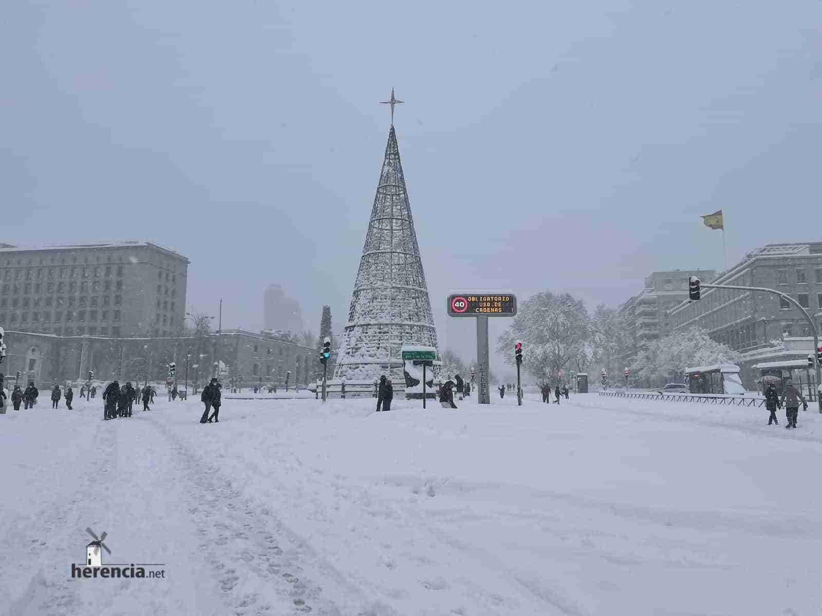 Fotografías de la nevada de enero en Madrid (España) 136