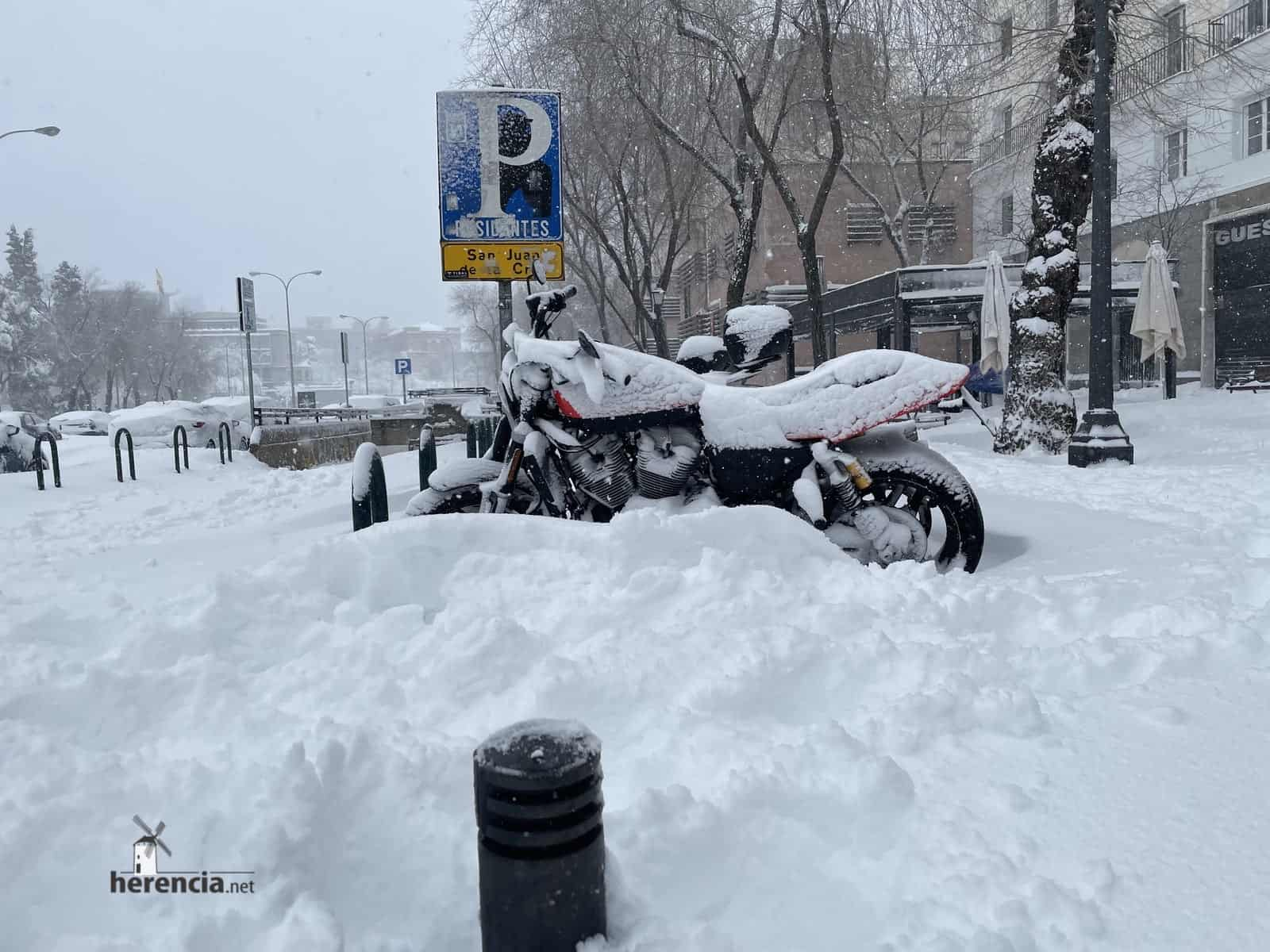 Fotografías de la nevada de enero en Madrid (España) 121