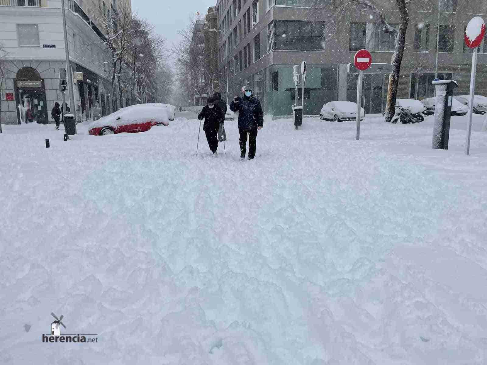 Fotografías de la nevada de enero en Madrid (España) 122