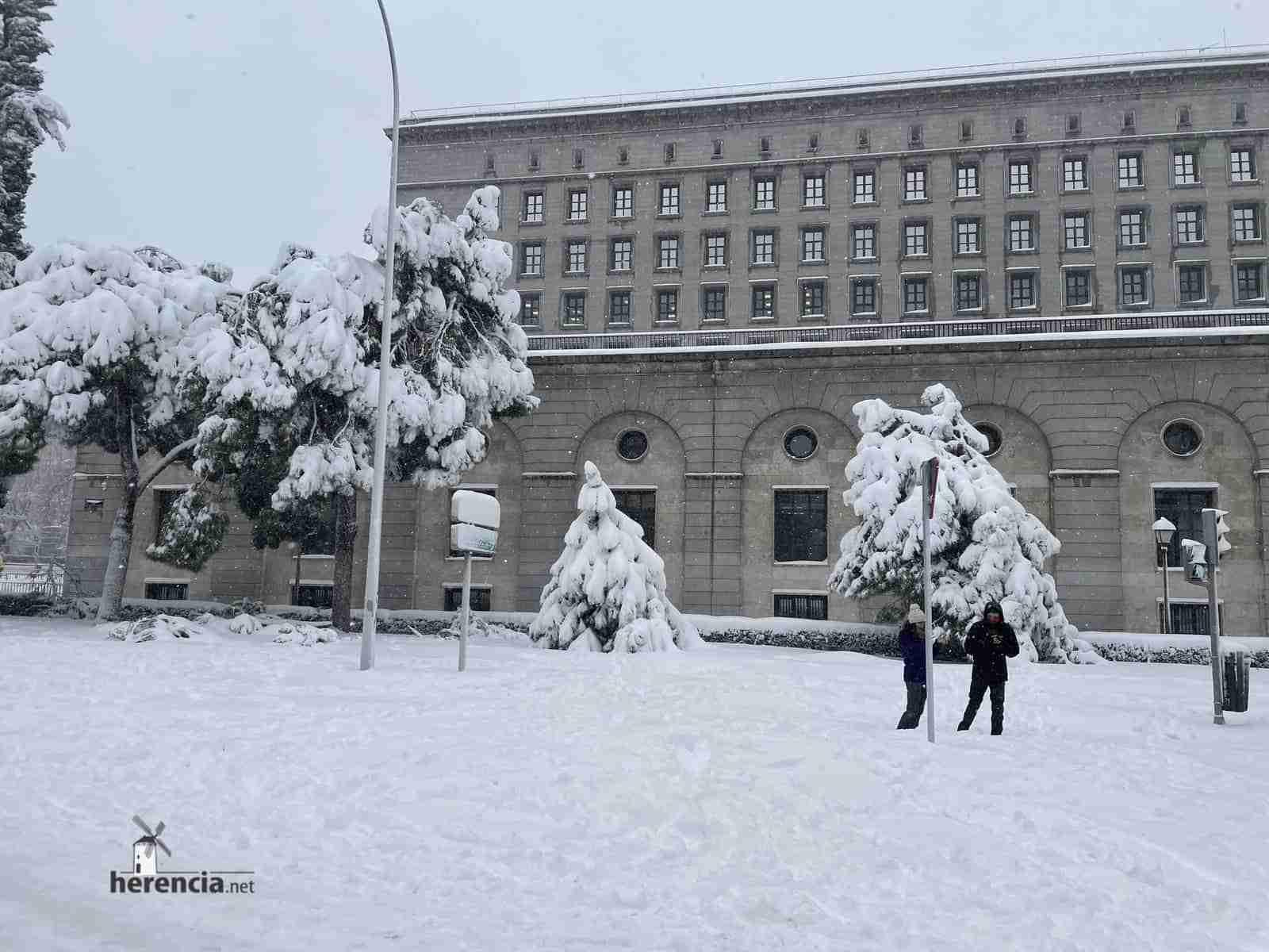 Fotografías de la nevada de enero en Madrid (España) 123