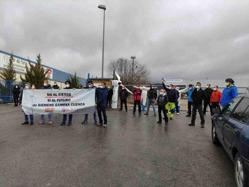 Todas las plantillas españolas del grupo Siemens-Gamesa movilizan contra los cierres y EREs de Cuenca y Os Somozas 1
