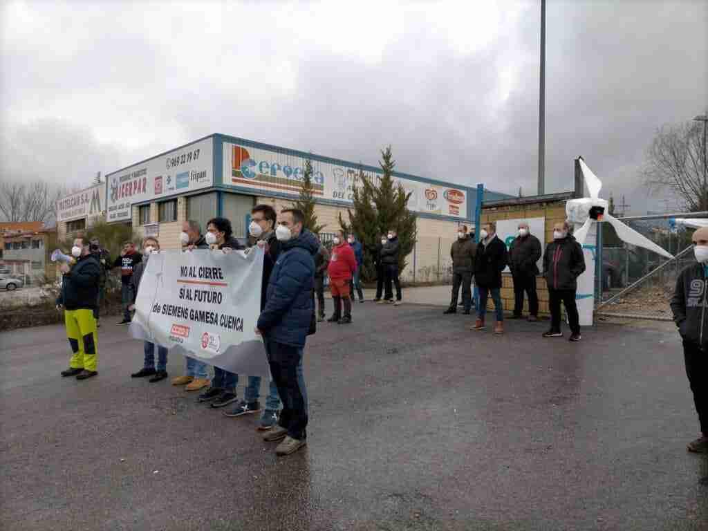 Todas las plantillas españolas del grupo Siemens-Gamesa movilizan contra los cierres y EREs de Cuenca y Os Somozas 3