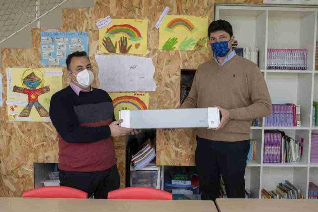 Jata donó purificadores de aire a Save the Children para el Centro de Recursos para la Infancia y la Adolescencia (CRIA) de Toledo 2