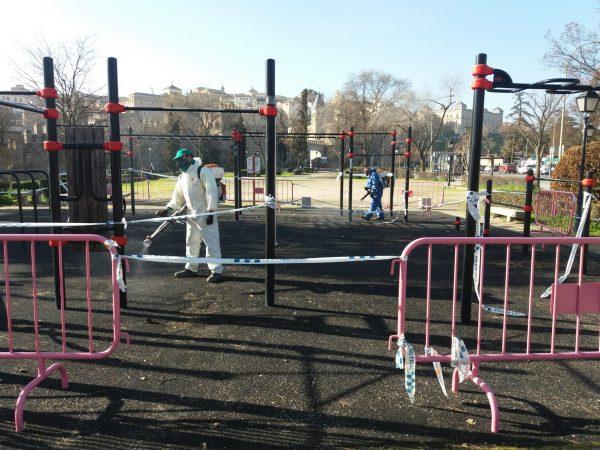 Limpieza áreas infantiles y street workout (4)