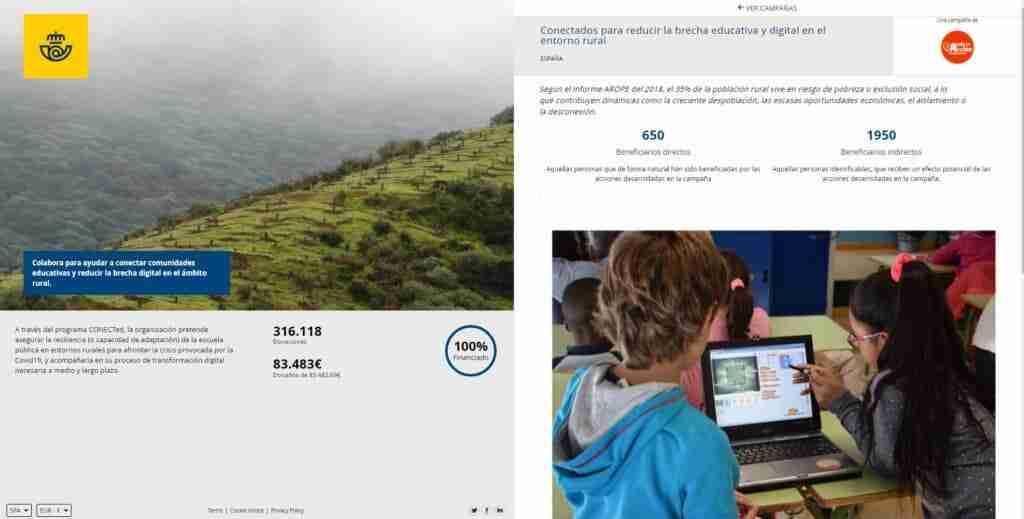 Correos registrá 800.000 donaciones a través de la iniciativa 'Redondeo con Impacto' 1