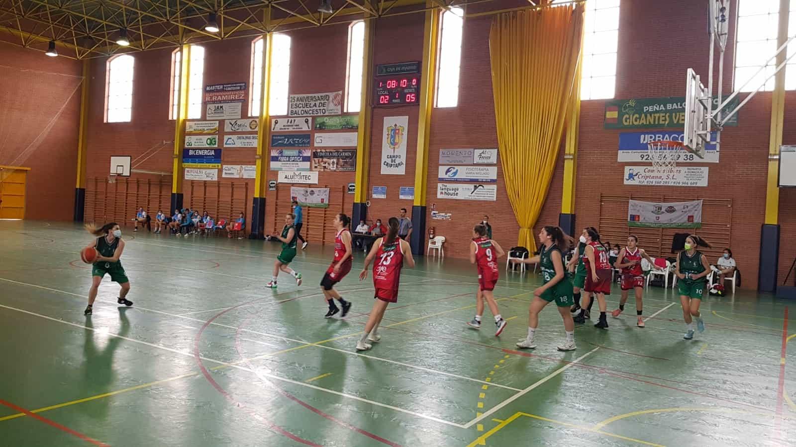 El equipo senior de baloncesto Criptana pierde la invatibilidad ante el Globalcaja Quintanar 5