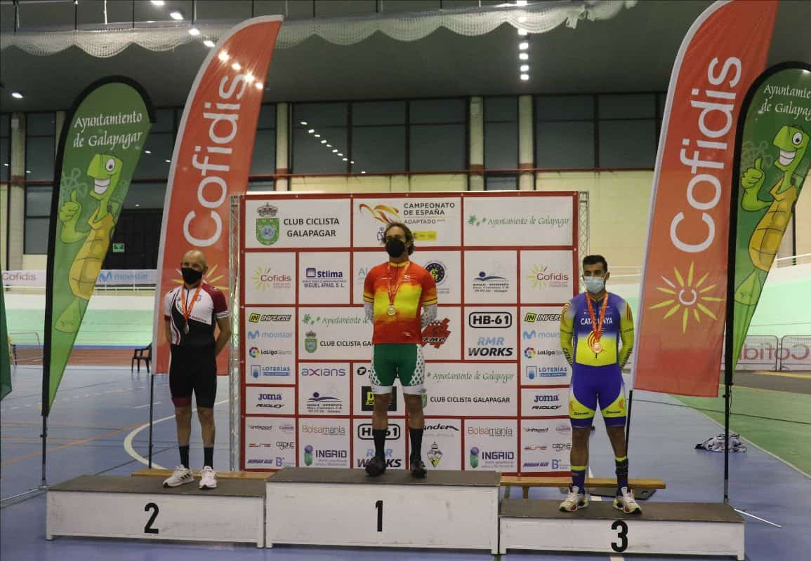Cuatro medallas avalan la gran actuación de Sánchez Migallón y Perona en el Campeonato de España de Ciclismo Adaptado en Pista 3