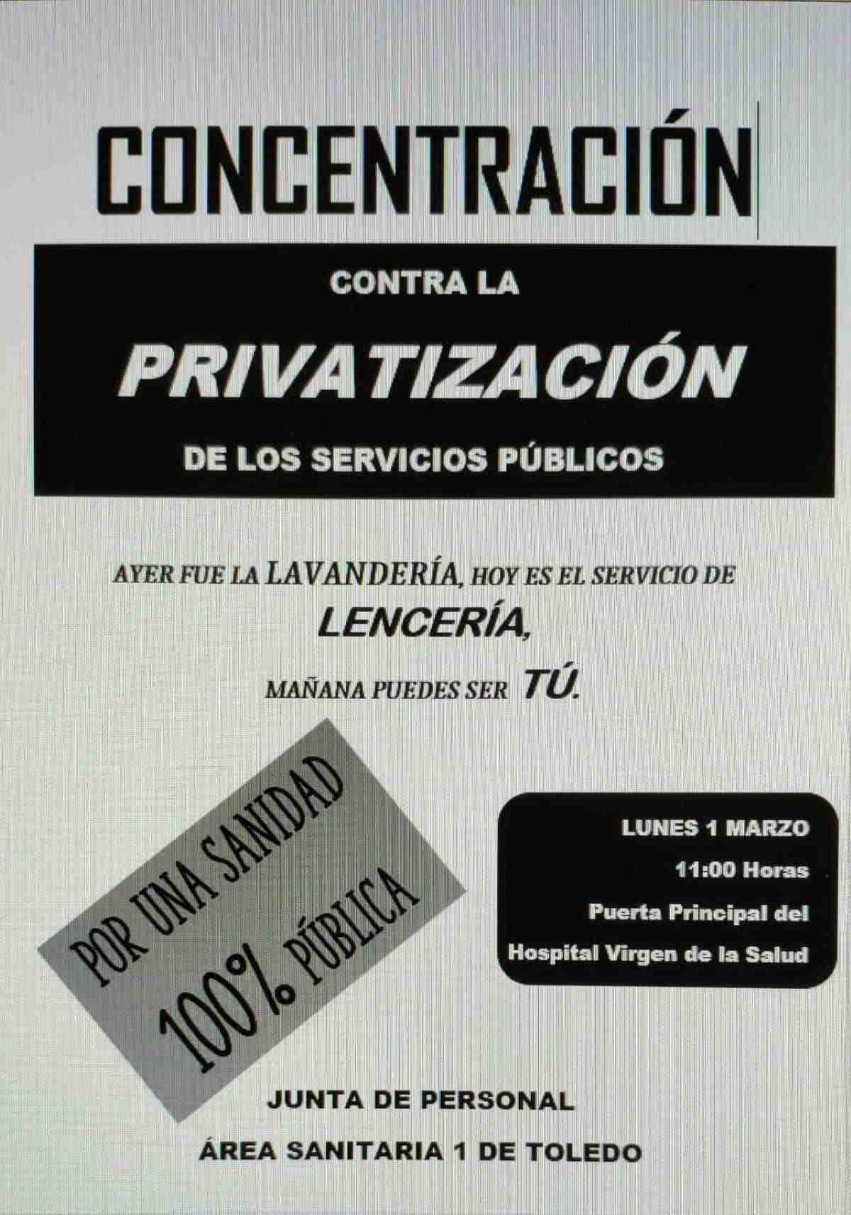 concentracion contra la privatizacion de la sanidad publica