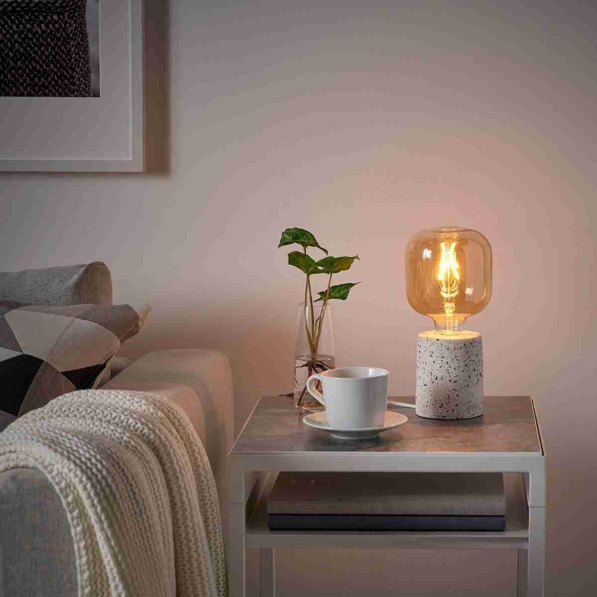 lampara imitacion de terrazo