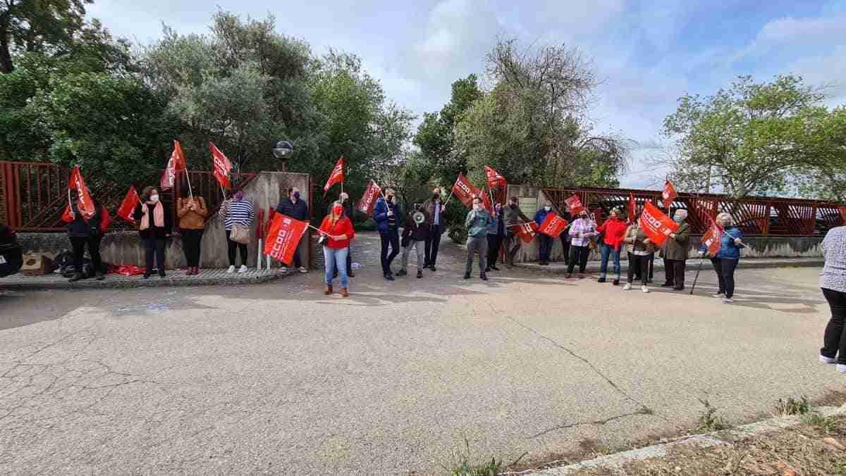 huelga trabajadoras de limpieza parque cabaneros