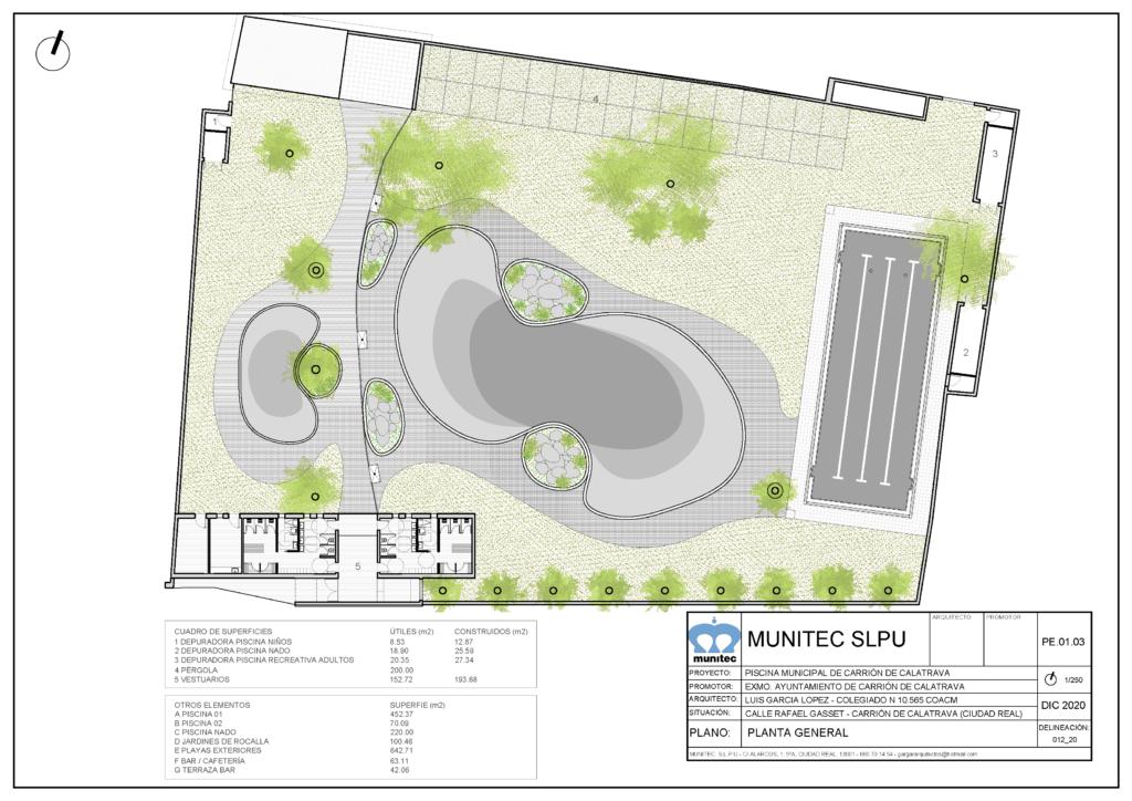 Empiezan las obras de construcción del nuevo complejo de piscinas de verano de Carrión de Calatrava 1
