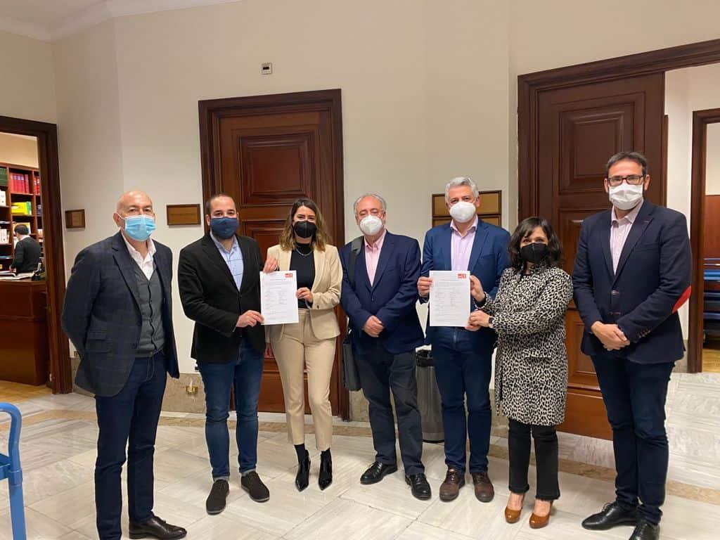 El grupo parlamentario socialista mostró en las Cortes de España el apoyo a los trabajadores y trabajadoras de REPSOL Puertollano 1