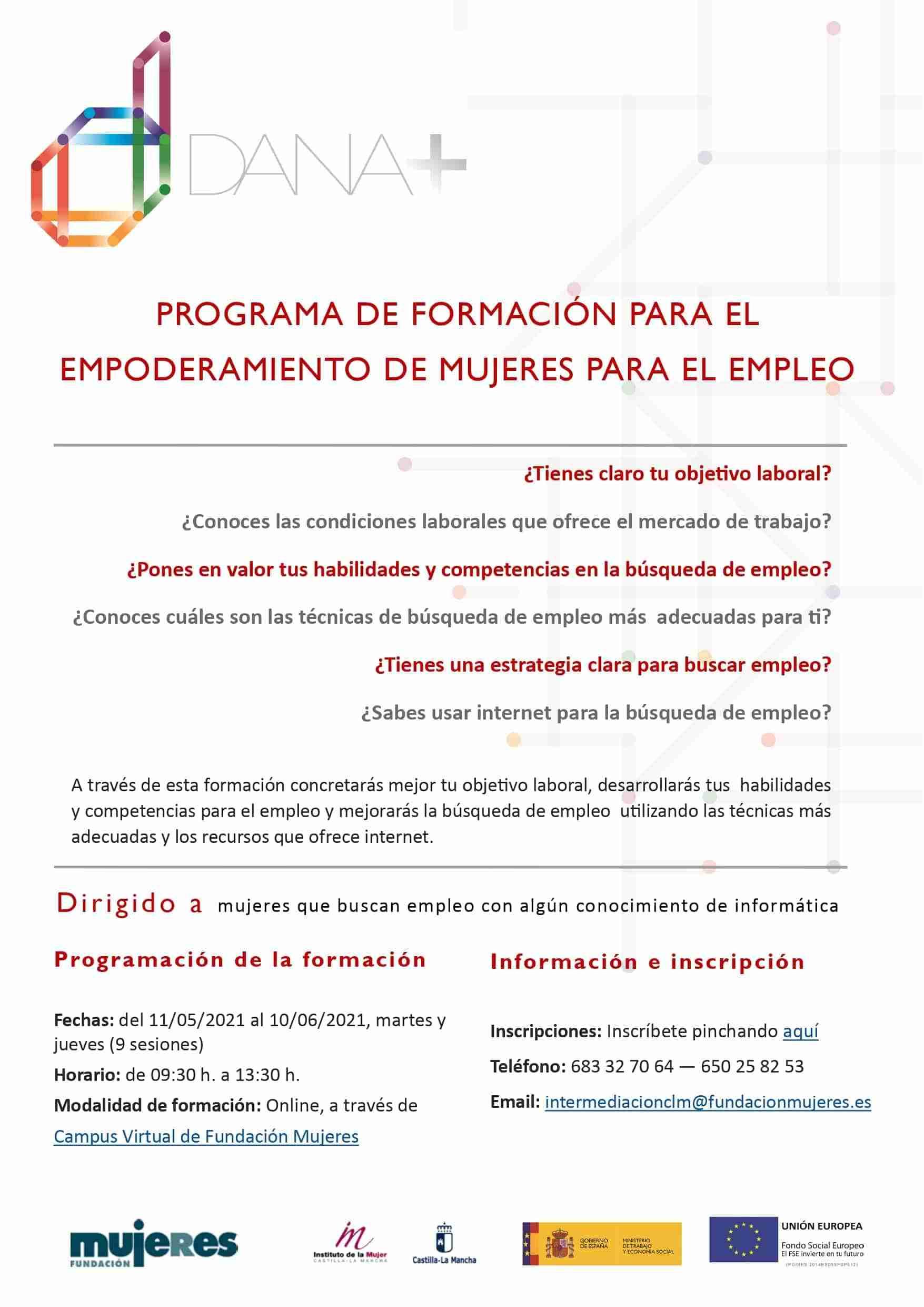 El Centro de la Mujer de Tomelloso presenta una oferta formativa on-line para el empoderamiento de mujeres en empleo y emprendimiento 3