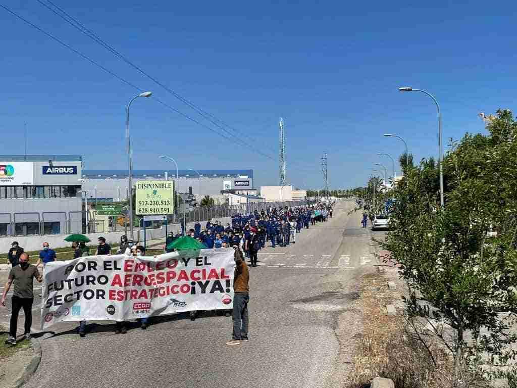 Las plantillas de Airbus en Illescas y Albacete secundaron masivamente una nueva jornada de huelga 14