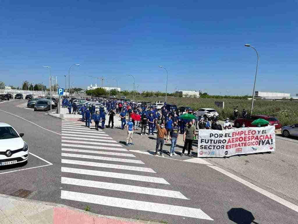 Las plantillas de Airbus en Illescas y Albacete secundaron masivamente una nueva jornada de huelga 1