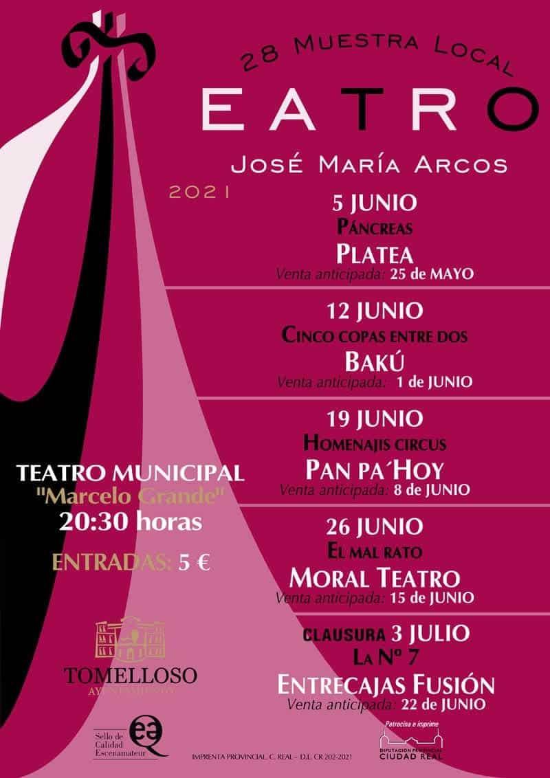 """Presentada la 28 Muestra Local de Teatro """"José María Arcos"""" con un mensaje de apoyo y reconocimiento al teatro amateur 3"""