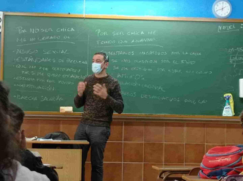"""Talleres sobre """"Nuevas Masculinidades"""" para los alumnos de 4º ESO y 1º Bachillerato en Herencia 5"""