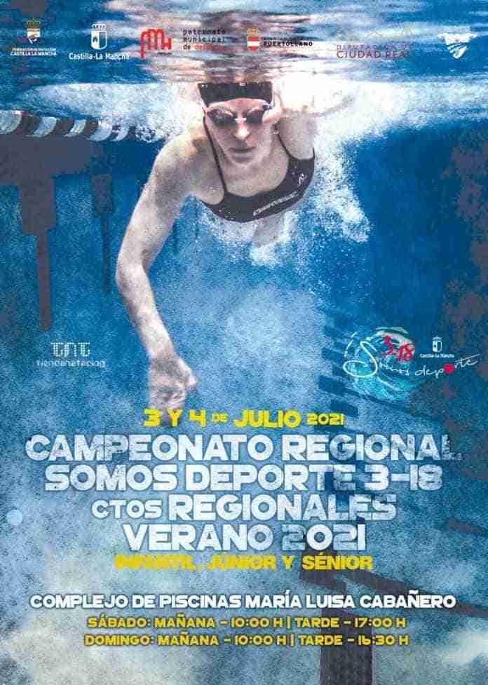campeonato regional natacion complejo maria luisa cabanero puertollano