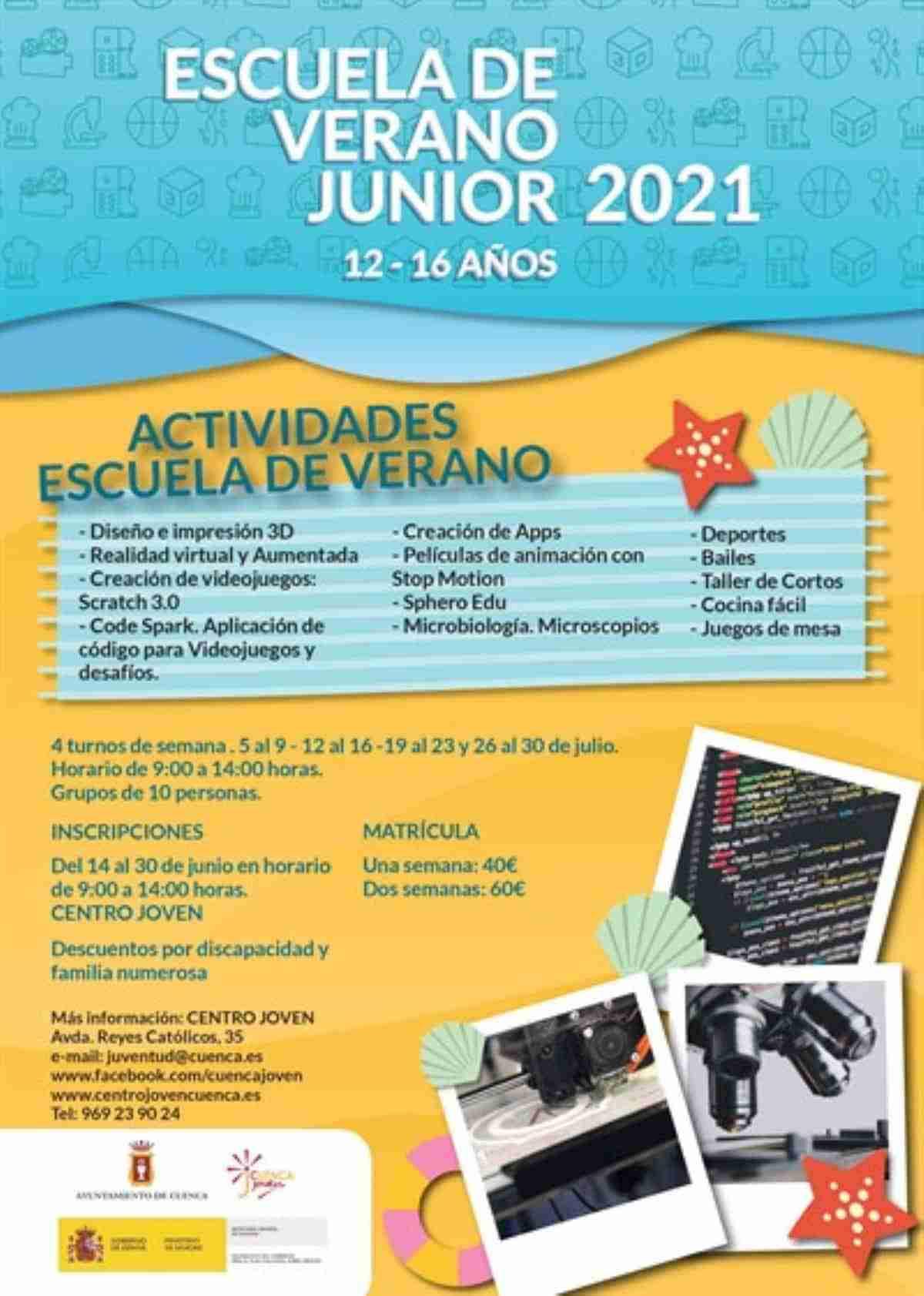 inscripcion escuela de verano junior 2021 cuenca