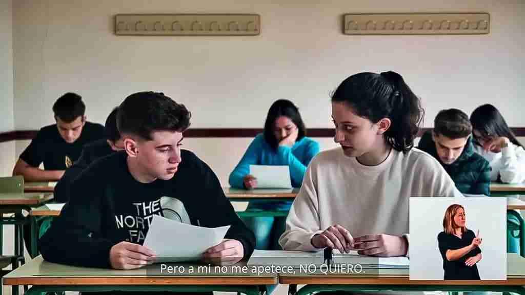 Jóvenes intérpretes rabaneros de 4º de la ESO dieron una lección audiovisual contra el machismo temprano 1