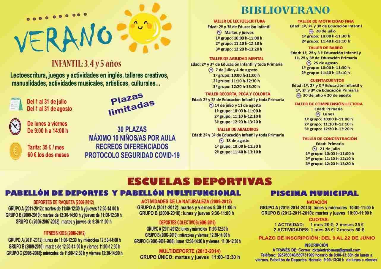 Escuela de Verano, actividades deportivas y biblioverano en Piedrabuena, para que disfruten menores y jóvenes 3
