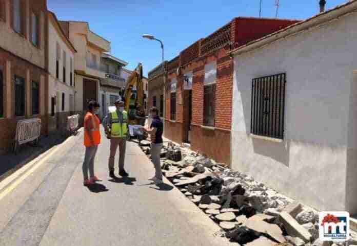 inician obras calle de oriente miguelturra