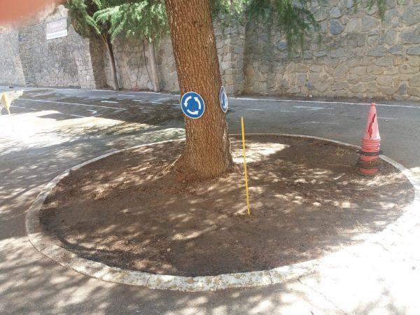 Limpieza parque escolar tráfico 06