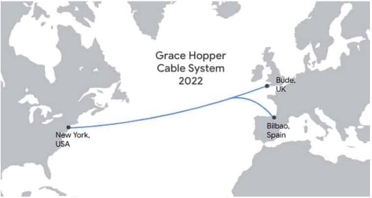 El cable submarino de Google, Grace Hopper, llega a Bilbao de la mano de Telxius 3