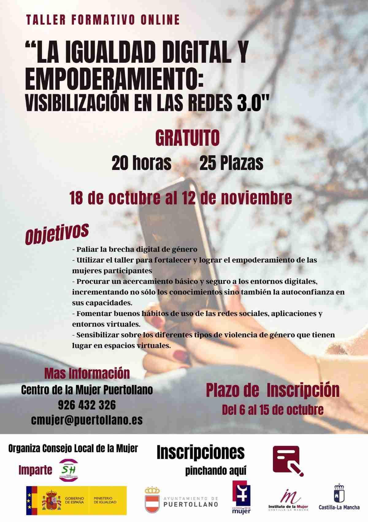 taller de igualdad visibilizacion en las redes en puertollano