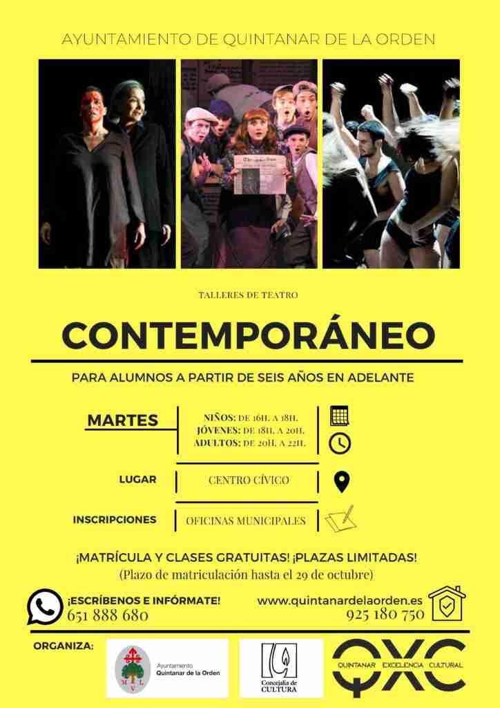 Quintanar comienza con Talleres de Teatro Contemporáneo para todas las edades 1